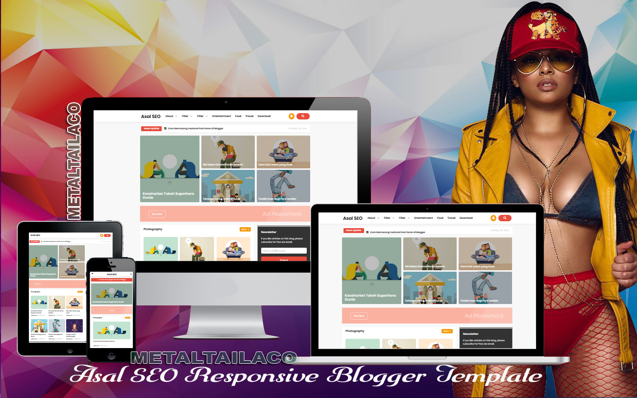 Asal SEO Responsive Blogger Template