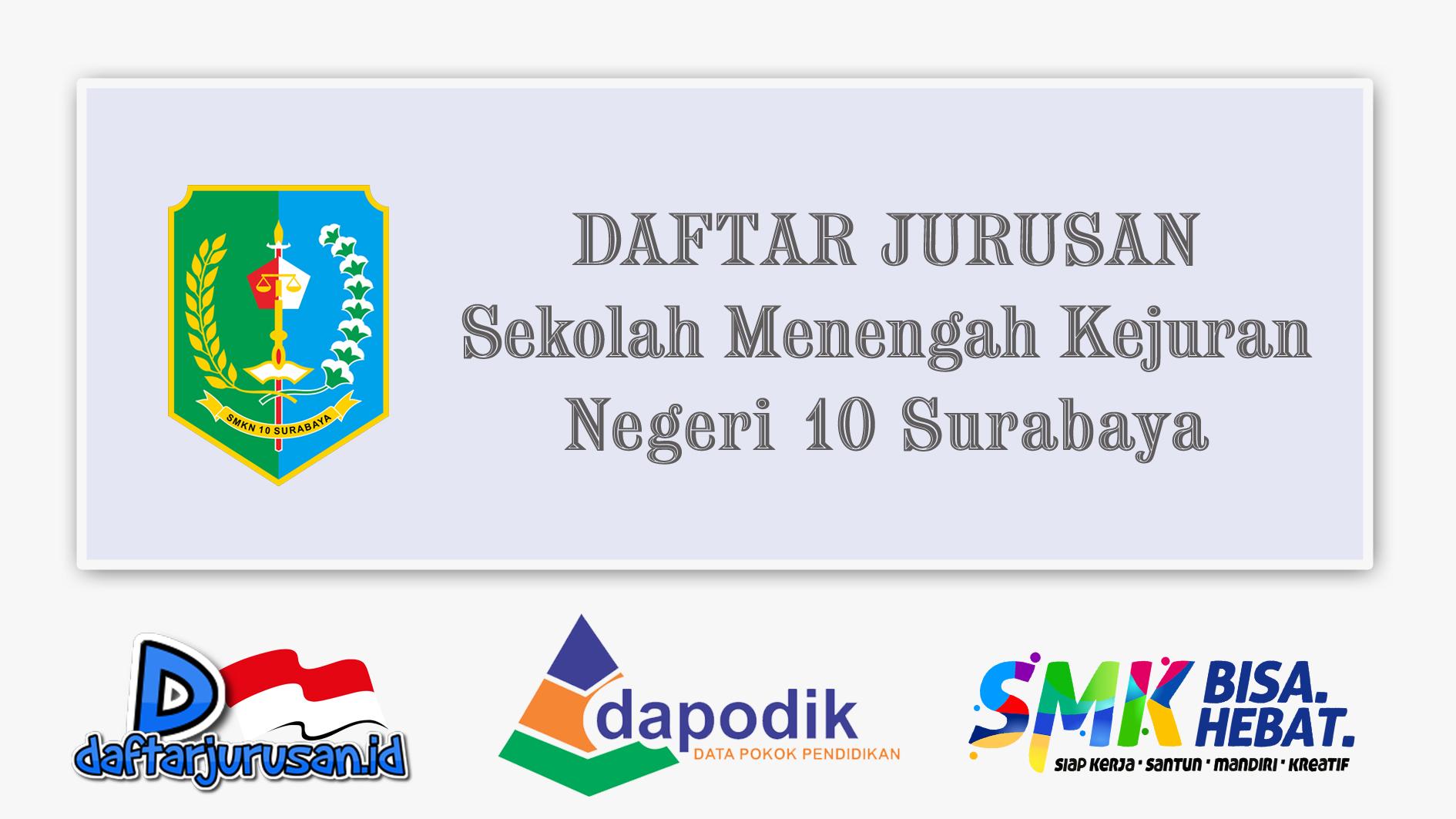 Daftar Jurusan SMK Negeri 10 Surabaya