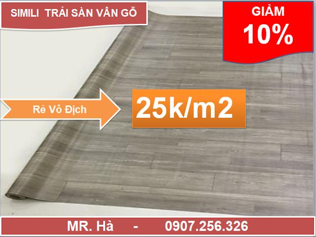 thảm nhựa trải sàn simili vân gỗ nhám mới nhất 2020
