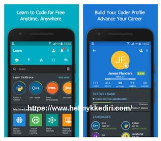 Aplikasi untuk belajar coding dismartphone