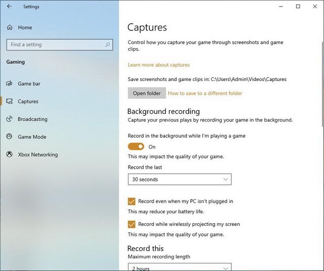 كيفية تسجيل الشاشة فيديو في ويندوز 10