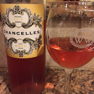 sweet rose wine, fruity, rose, chancelles, 2015, bright cellars