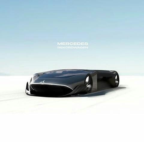 Mercedes Rekordwagen Concept Car oleh Amol