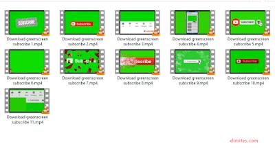 green screen subcribe keren dan terbaru zip rar