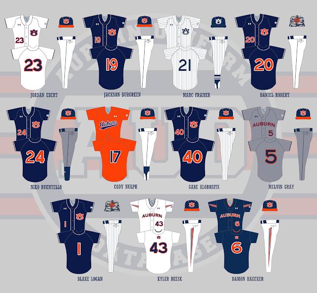 auburn baseball 2016 uniforms