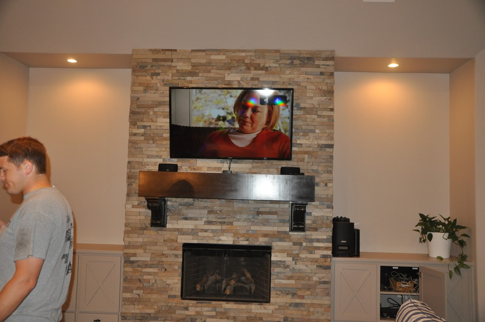 Made How To Mount A Flat Screen Tv On Stone Fireplace Diy Wiring Wall Plates