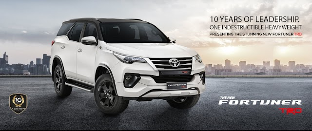 Toyato launch fortuner TRD to celebrate 10 year complete fortuner in india
