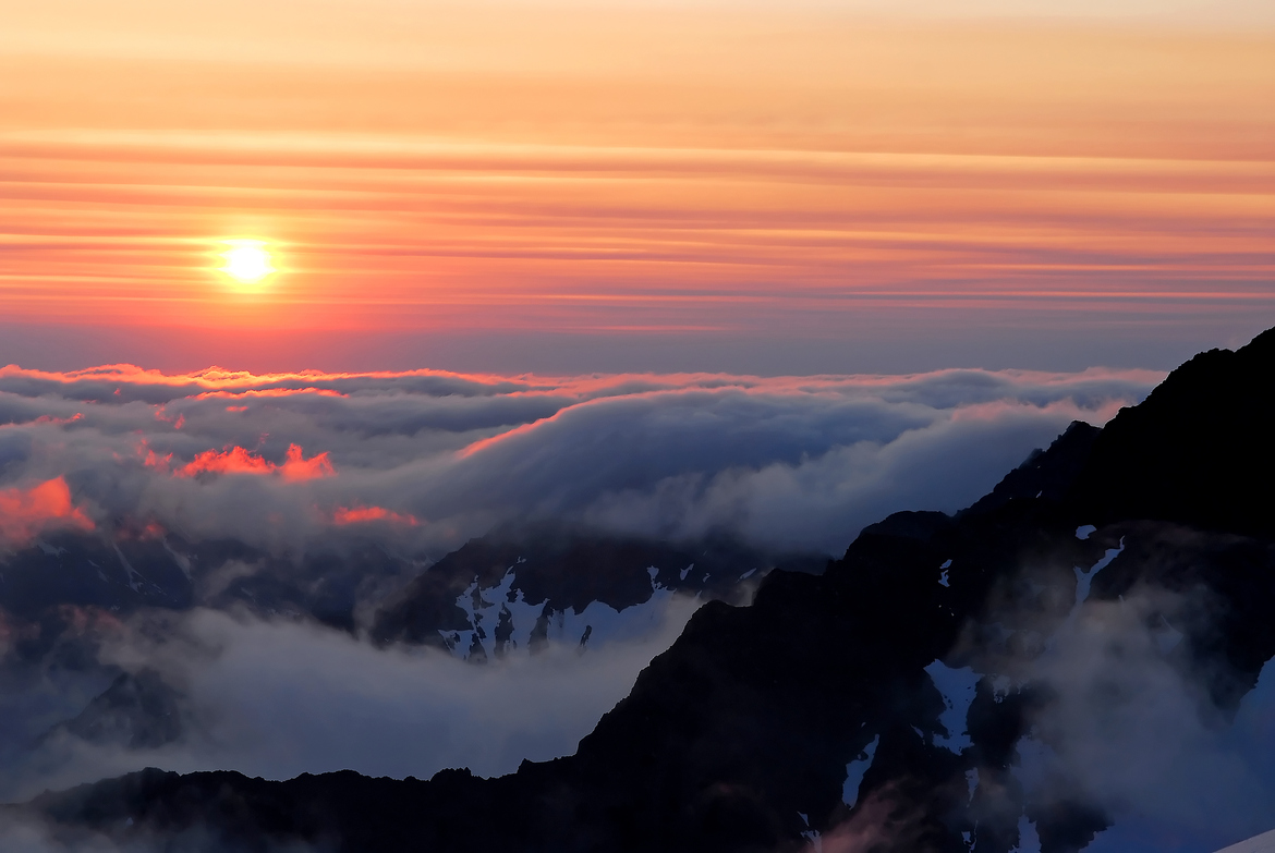 For an entire week we stayed above the clouds high in the Olympic Mountains. Every day we'd go to bed to a sunset and wake up to a sunrise. This is an example of one sunrise