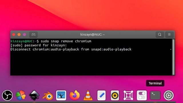 Ubuntu Uninstall Snap Software via Terminal