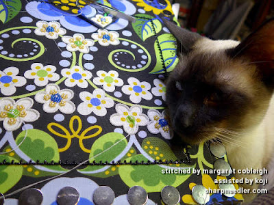 Yet more Siamese kittem help. (Wild Child Japanese Bead Embroidery by Mary Alice Sinton)