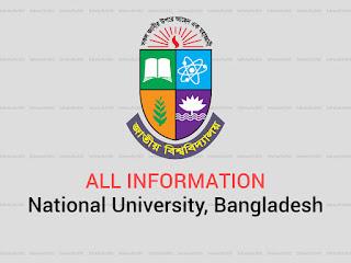 National University, Bangladesh all exam notice