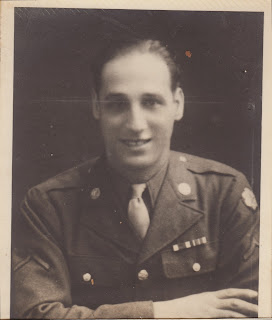 Portrait of Gus Caponi in WWII uniform