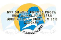 RPP Silabus Promes Prota Kkm Jurnal Pemetaan Buku Kelas 1 Kurikulum 2013 Lengkap Complete