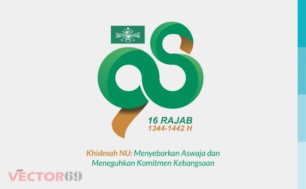 Harlah NU ke-98 16 Rajab 1442 H Tahun 2021 Logo - Download Vector File SVG (Scalable Vector Graphics)