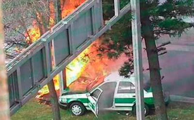 Pipa de gua choca contra autos y se incendian en Xalapa Veracruz; 3 muertos