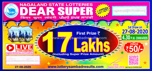 Nagaland State Dear Super Lottery 27-08-2020