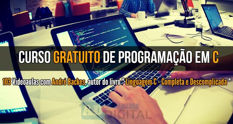 Curso gratuito de Programação em C.