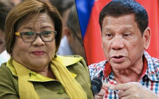 De Lima Says: Di lang si Duque ang Palpak, Pati si Duterte