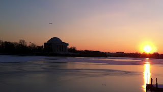 DC monuments at sunset
