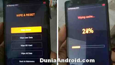Proses wipe data reset Xiaomi redmi 4g