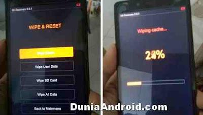 Proses wipe data reset Xiaomi redmi 4g
