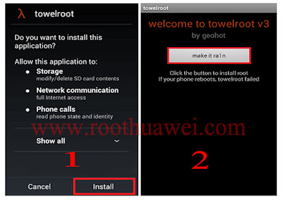 Root Huawei P8 Lite using TowelRoot.Apk