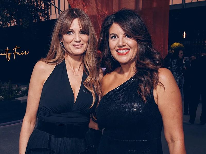Jemima Goldsmith and Monica Lewinsky