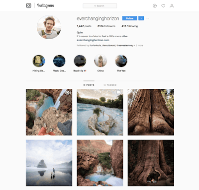 Everchanging Horizon Instagram