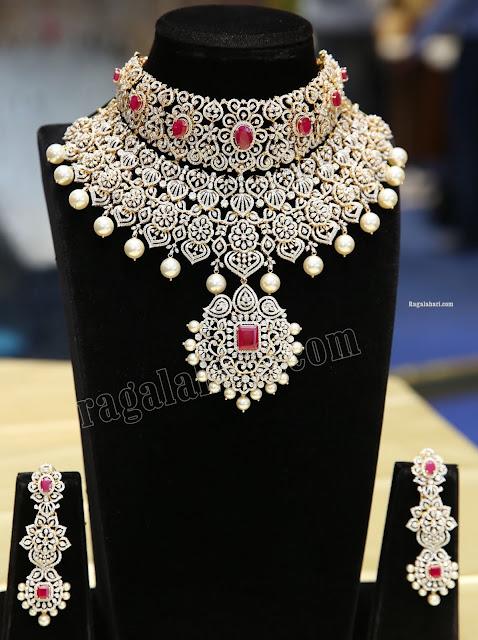 Two Tier Diamond Set and Jhumkas