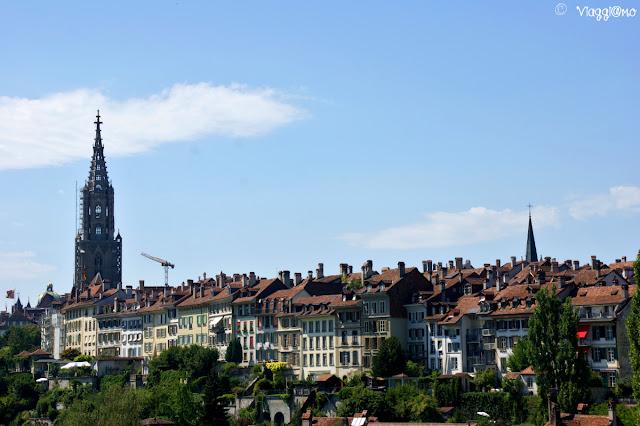 Vista di Berna dal fiume Aare
