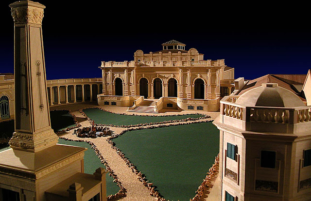 Architectural model by Franco Gizdulich, Terme del Corallo, Livorno