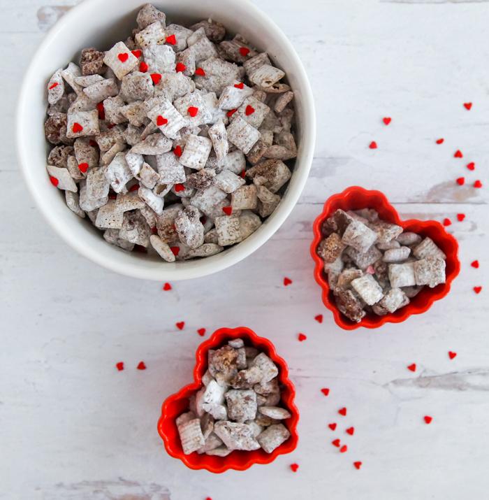 Valentine Nutella Muddy Buddies