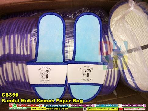 jual Sandal Hotel Kemas Paper Bag