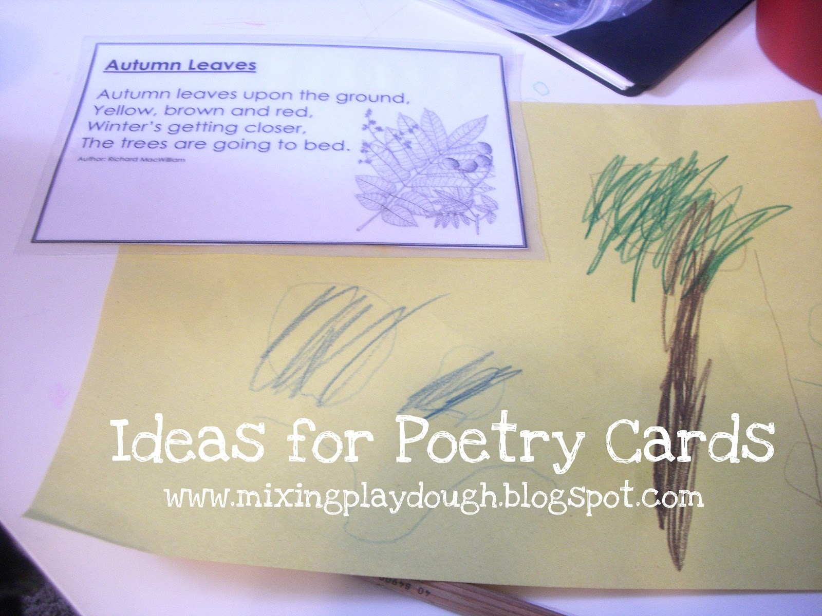 Mixing Playdough What To Do With Short Poetry Cards