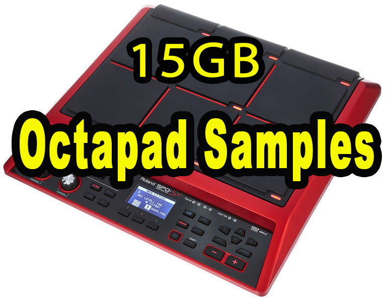 Octapad Samples & Drum Samples , Loops , Rolling , Fills