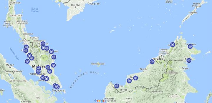 Peta dan Senarai Kawasan Liputan MyFreeView TV