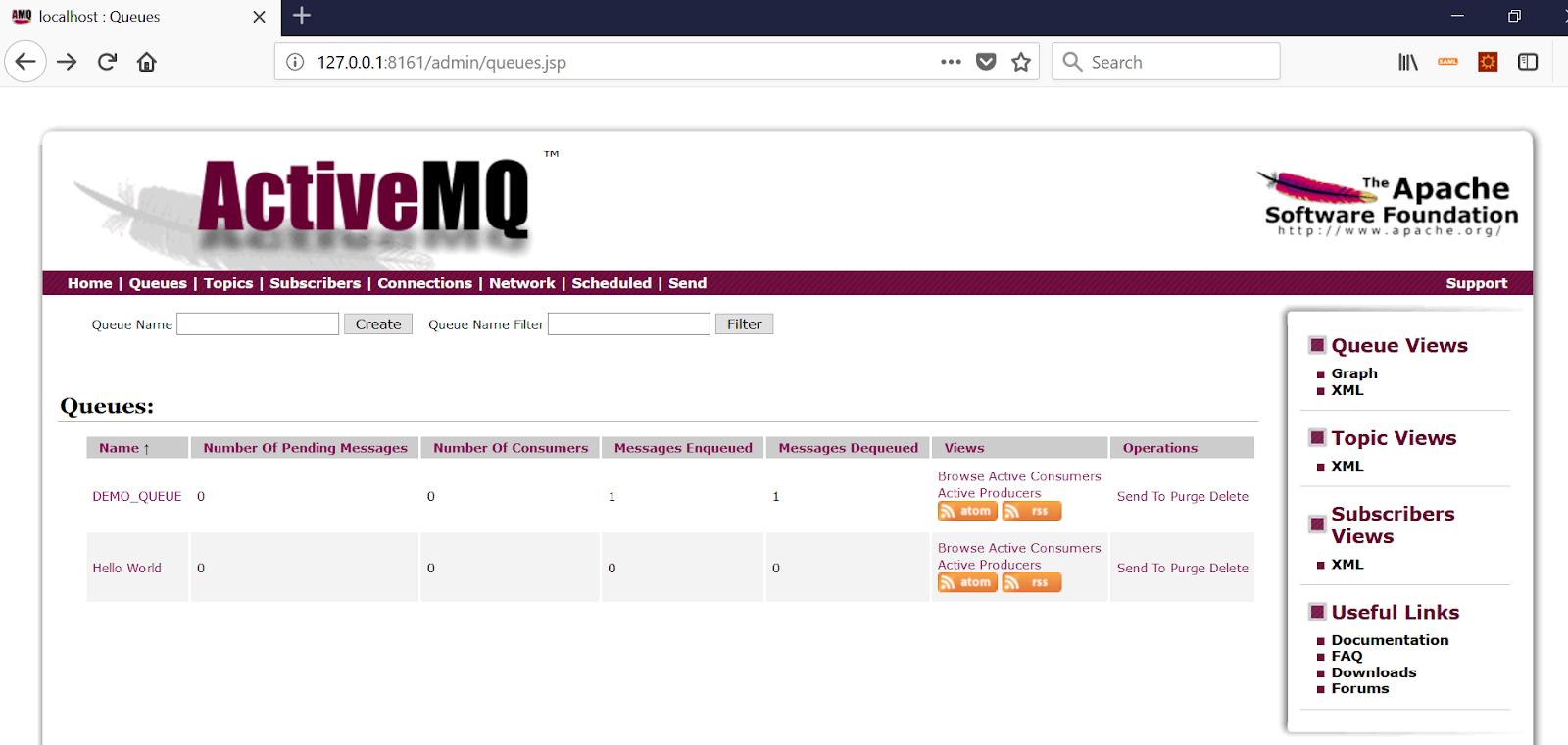 Programming for beginners: ActiveMQ: Delete a queue programmatically