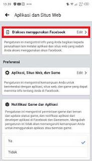 cara melihat game yang terhubung dengan facebook android