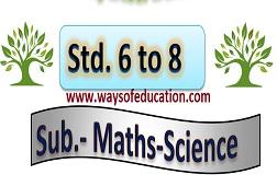 STD 6 TO 8 MATHS SCI DAINIK AYOJAN SEM 1 & 2