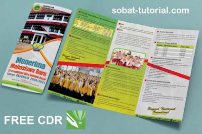 Download Brosur Lipat 3 Pendaftaran Mahasiswa Baru (PMB) Free CDR