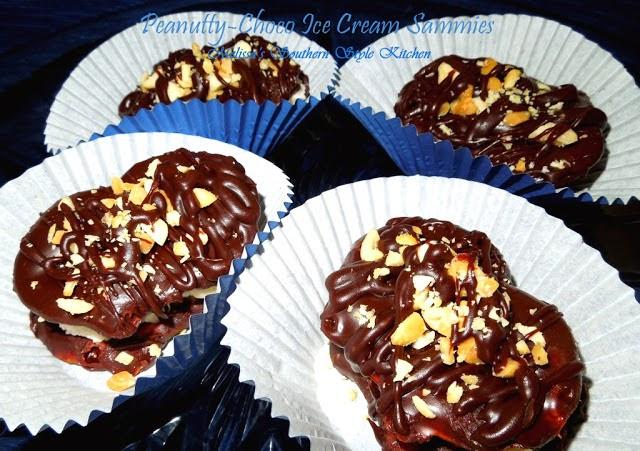 Peanutty Choco Ice Cream Sammies