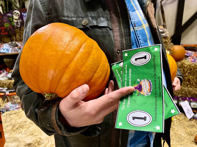 Free pumpkin for every child with Marsh Farm Halloween Festival entry