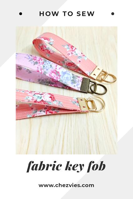 Easy DIY Fabric Key Fob - Sewing Tutorial