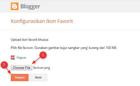 Cara Memasang Faviocn di Blogspot