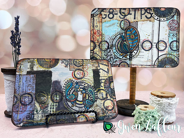 Gwen Lafleur May 2021 PaperArtsy Stamp Release - Project Tutorial - Finished Mixed Media Projects