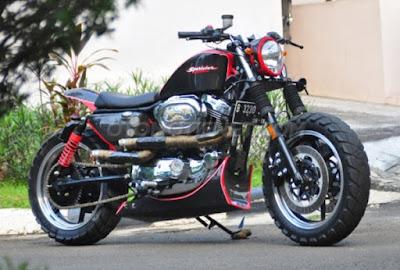 Foto Modifikasi Harley Davidson Sportster 1200XL 2002 Kekar