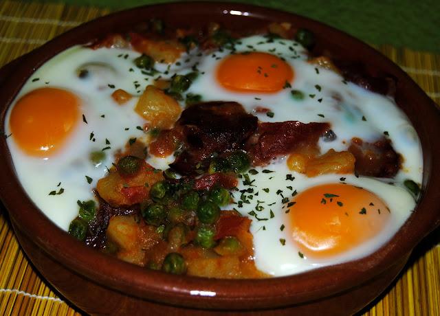 Huevos a la Flamenca. Receta