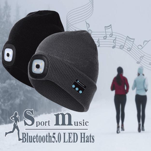 светодиодная шапка с гарнитурой