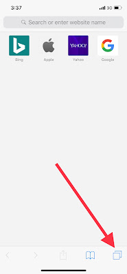 How to create a new tab in safari iPhone