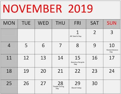 IMPORTANT DAYS & THEME NOVEMBER 2019 For PSPCL/Punjab Patwari/Rajasthan Police/Railway NTPC